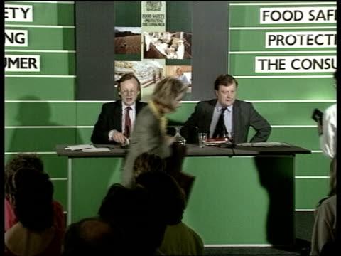 government announces measures; salmonella outbreak: government announces measures; england: london: smith sq: nobel house: pkf john gummer agric sec... - salmonella stock videos & royalty-free footage