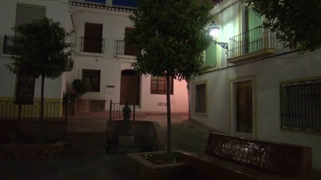 vidéos et rushes de salobreña street at night - espagne