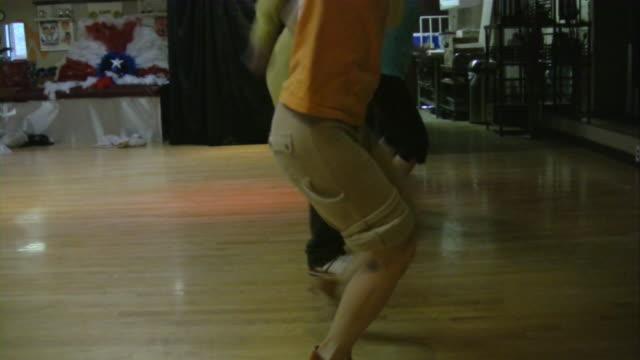 salsa dancers practicing dancing in dance studio. south american rhythms. - ballroom stock videos & royalty-free footage