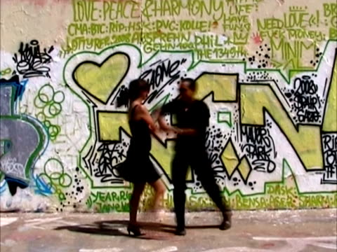 salsa dancers - graffiti stock videos & royalty-free footage