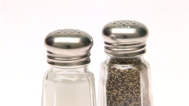 salt and pepper - salt shaker stock videos and b-roll footage