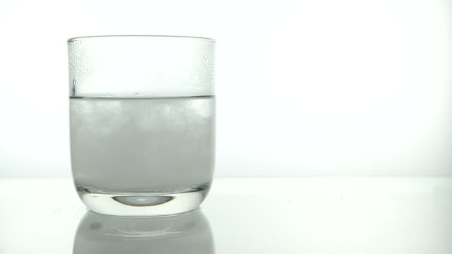 Salt dissolving in warm water
