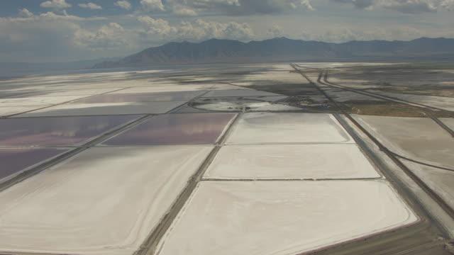 salt evaporation ponds at great salt lake - evaporation stock videos & royalty-free footage