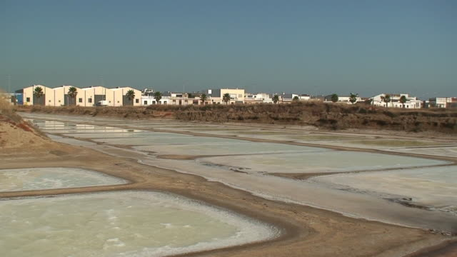 salt farm panoramic - collection stock videos & royalty-free footage