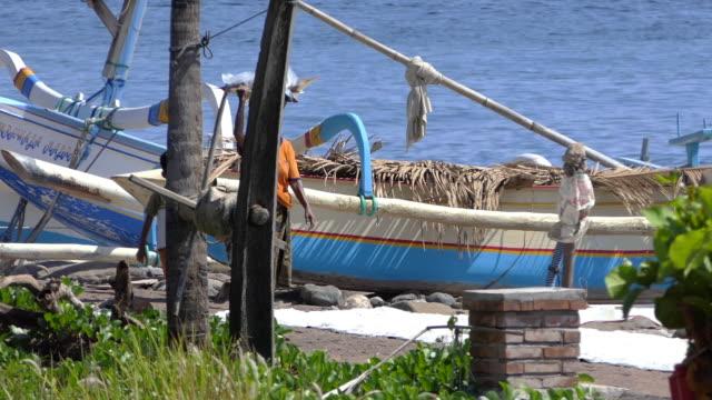 salt farmer, tejakula buleleng bali. - singaraja stock videos & royalty-free footage