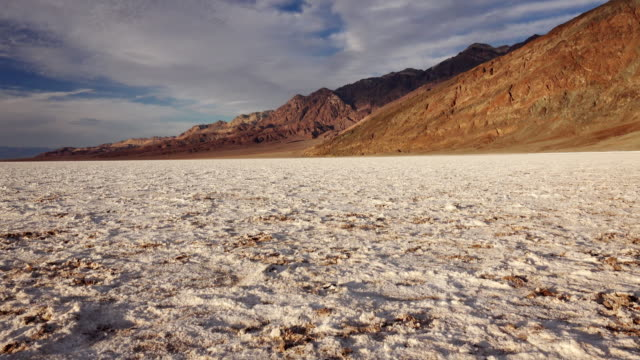 salt flats at badwater basin in death valley - death valley national park stock videos & royalty-free footage