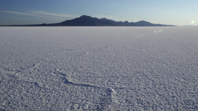 salt flats dawn - bonneville salt flats stock videos and b-roll footage