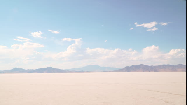 salt flats time lapse - bonneville salt flats stock videos and b-roll footage