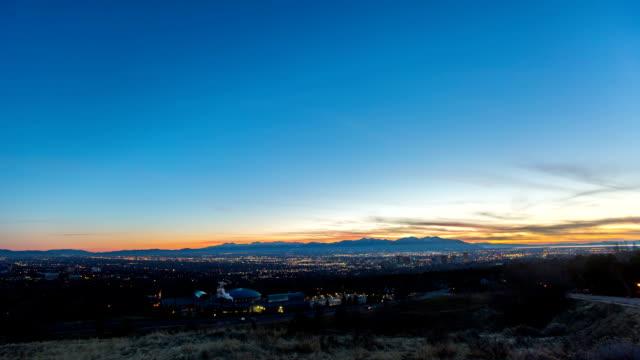 Salt Lake City Day to Night