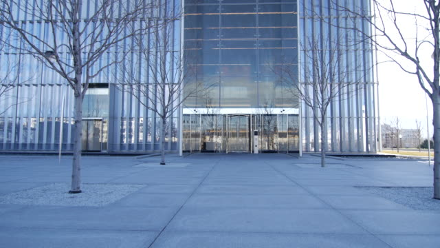 salt lake city federal courthouse main door tilt - courthouse stock videos & royalty-free footage