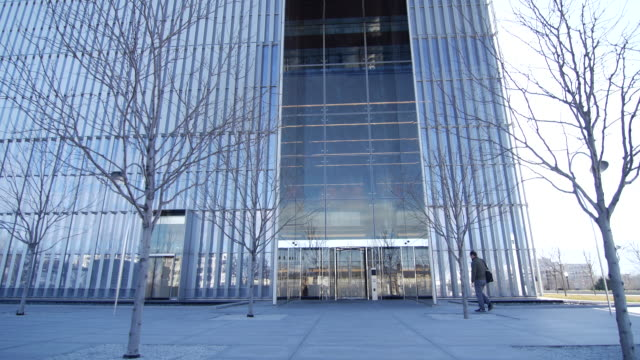 salt lake city federal courthouse man walk in - courthouse stock videos & royalty-free footage