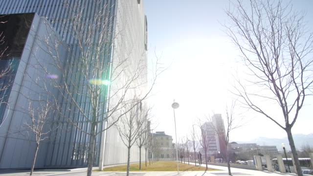 salt lake city federal courthouse side - courthouse stock videos & royalty-free footage