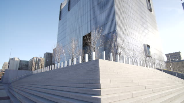 salt lake city federal courthouse steps - courthouse stock videos & royalty-free footage