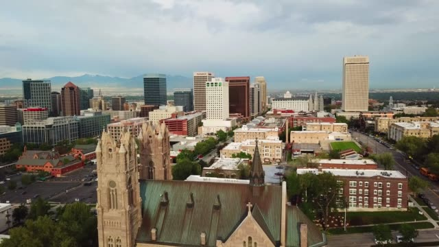 salt lake city! in utah, seen from air - utah stock videos & royalty-free footage
