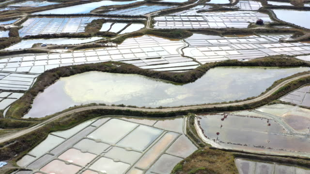 salt marshes of guerande, loire-atlantique, france - marsh stock videos & royalty-free footage