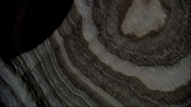 salt mineral patterns are displayed in rock faces. available in hd. - physical geography stock videos & royalty-free footage