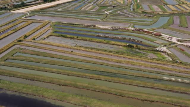 salt ponds on the ile d'oleron, france - nouvelle aquitaine stock videos & royalty-free footage