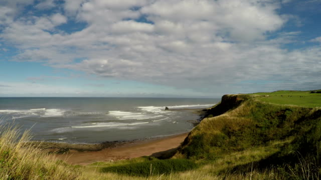 saltwick bay, north yorkshire - whitby north yorkshire england stock videos & royalty-free footage