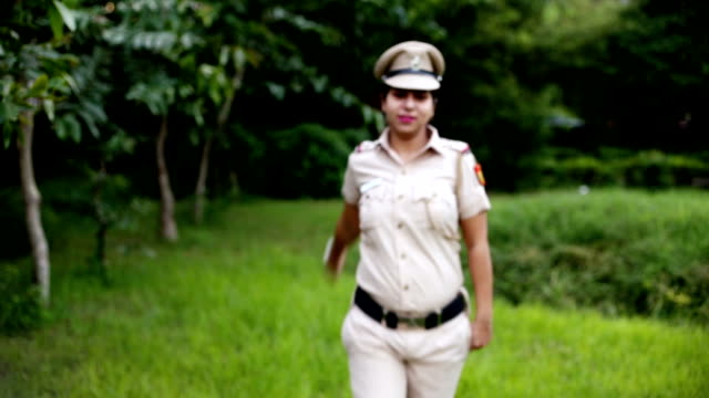 saluting indian police inspector - saluting stock videos & royalty-free footage