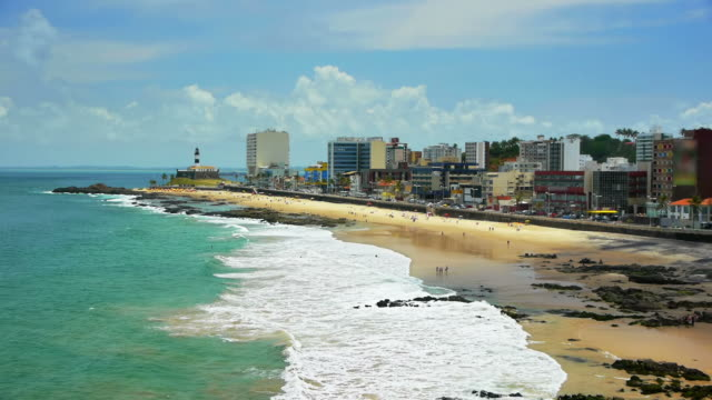 salvador - brazil beach - bahia state stock videos and b-roll footage