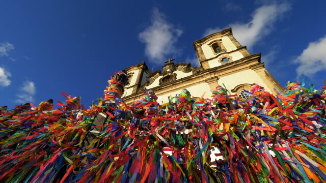 salvador iconic touristic spot, bahia, brazil - famous place stock videos & royalty-free footage
