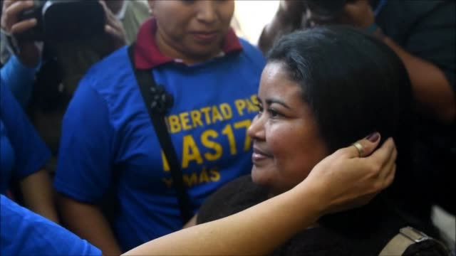 A Salvadoran woman who spent 15 years in prison after suffering a miscarriage was released Tuesday after a court commuted her original 30 year...