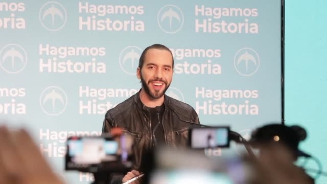 salvadorans elect nayib bukele the popular former mayor of san salvador as the central american country's new president a result that ends the near... - governmental occupation stock videos & royalty-free footage