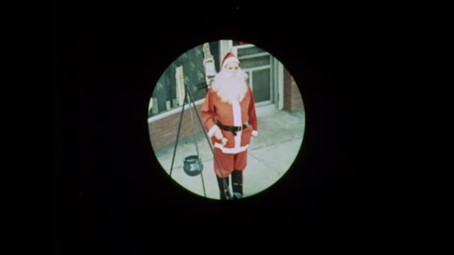 1964 salvation army santa clauses ring their bells - bell stock videos & royalty-free footage