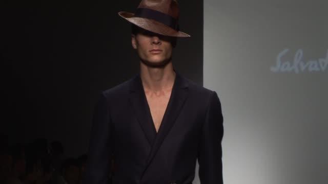 salvatore ferragamo - milan men's fashion week at the salvatore ferragamo - milan men's fashion week at milan . - salvatore ferragamo stock videos & royalty-free footage