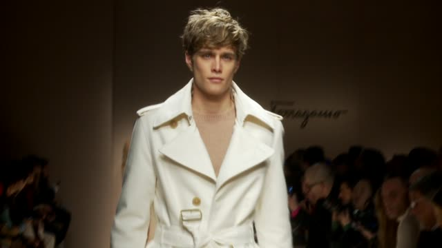 milan men's fashion week a/w 2011 on january 16, 2011 in milan, italy - salvatore ferragamo stock videos & royalty-free footage
