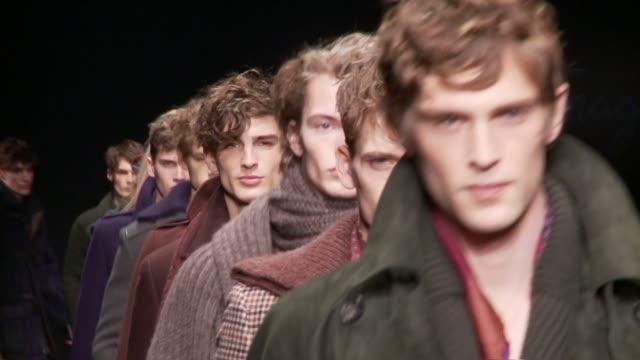 salvatore ferragamo - milan men's fashion week - salvatore ferragamo stock videos & royalty-free footage