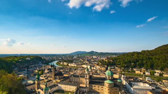 Salzburg Austria Time lapse at sunny day