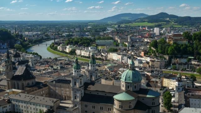 Salzburger Stadtbild Stadtplatz Österreich