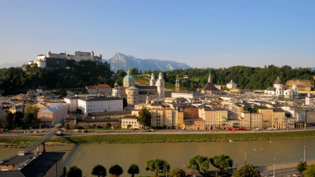 Salzburg old town morning