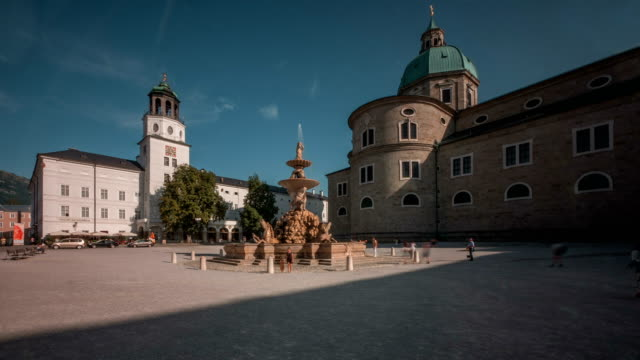 Salzburg Residenz Platz day to night