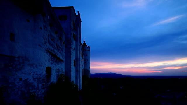 Salzburg sunset Hohensalzburg Castle