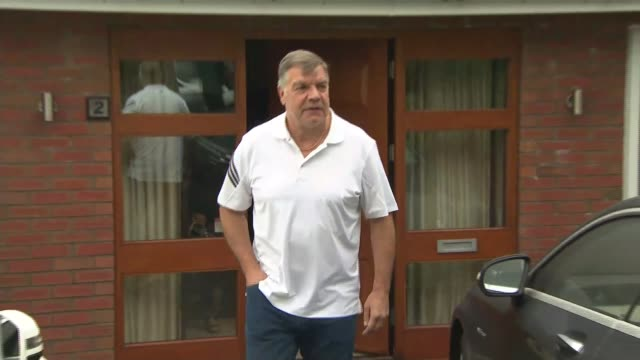 sam allardyce claims entrapment has won; england: ext sam allardyce along from house london: michail antonio setup shots and interview sot - sam west stock videos & royalty-free footage
