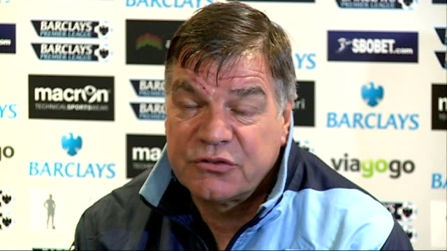 sam allardyce says new financial fair play rules may prevent west ham from signing andy carroll; 15.4.2013 england: london: int sam allardyce press... - sam west stock videos & royalty-free footage