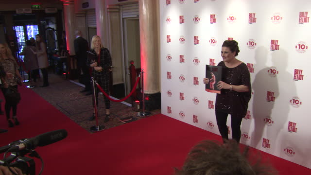 sam bailey at billy elliot the musical celebrates 10 years in the west end - sam west stock videos & royalty-free footage