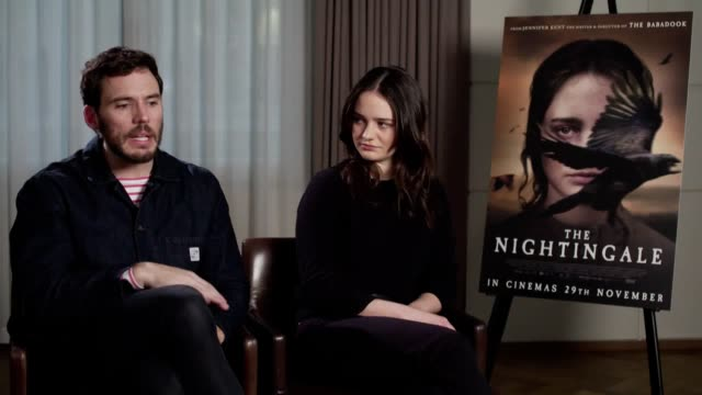sam claflin and aisling franciosi discuss the importance of the historical narrative in the nightingale. they also reference the timeliness of the... - nightingale stock videos & royalty-free footage