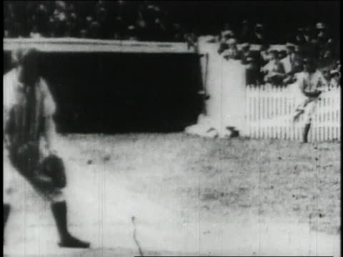 sam crawford playing baseball / united states - 1913 stock-videos und b-roll-filmmaterial