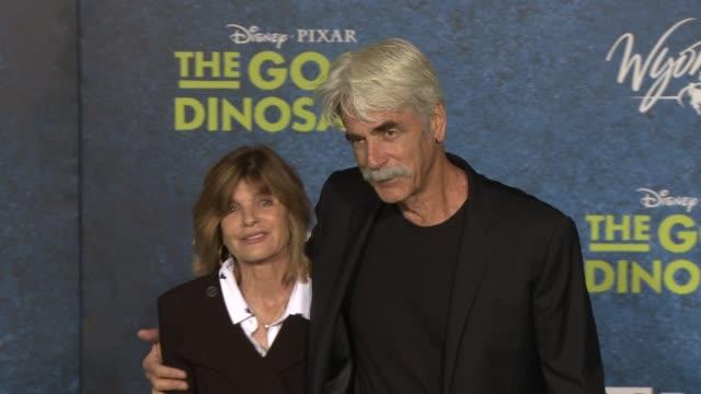 "sam elliott and katharine ross at ""the good dinosaur"" world premiere at the el capitan theatre on november 17, 2015 in hollywood, california. - sam elliott stock videos & royalty-free footage"