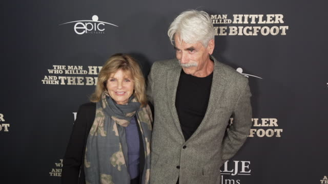 """sam elliott and katharine ross at the """"the man who killed hitler and then the bigfoot"""" los angeles premiere at arclight hollywood on february 04,... - sam elliott stock videos & royalty-free footage"""