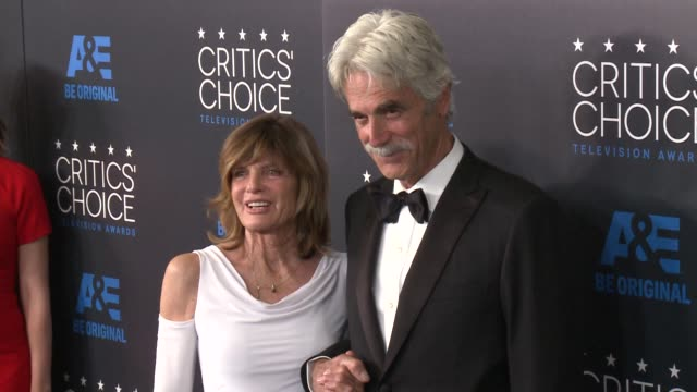 sam elliott and katherine ross at the 2015 critics' choice television awards at the beverly hilton hotel on may 31, 2015 in beverly hills, california. - 放送テレビ批評家協会賞点の映像素材/bロール