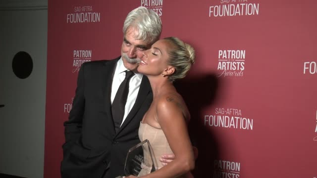 Sam Elliott and Lady Gaga at the SAGAFTRA Foundation's 3rd Annual Patron Of The Artists Awards at Wallis Annenberg Center for the Performing Arts on...