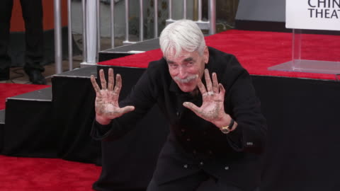 sam elliott at his hand & footprint ceremony at tcl chinese theatre on january 07, 2019 in hollywood, california. - sam elliott stock videos & royalty-free footage