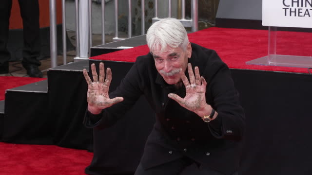 sam elliott at his hand footprint ceremony at tcl chinese theatre on january 07 2019 in hollywood california - best supporting actor stock videos & royalty-free footage