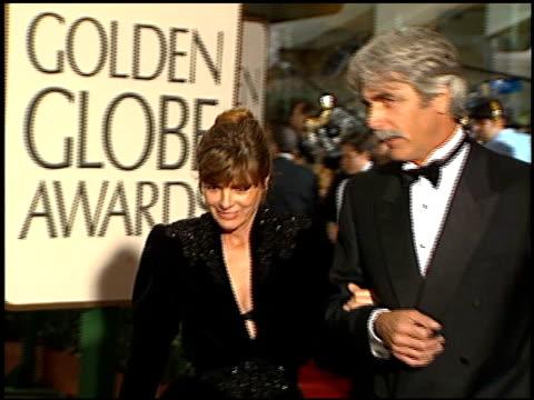sam elliott at the 1996 golden globe awards at the beverly hilton in beverly hills, california on january 21, 1996. - sam elliott stock videos & royalty-free footage