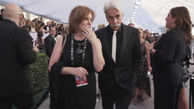 sam elliott at the 25th annual screen actors guild awards at the shrine auditorium on january 27 2019 in los angeles california - best supporting actor stock videos & royalty-free footage
