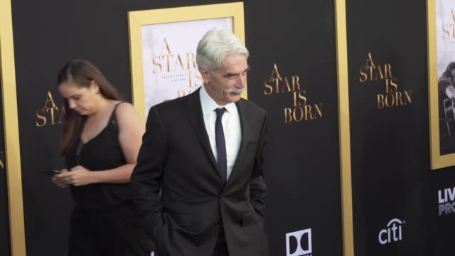 """sam elliott at the """"a star is born"""" los angeles premiere at the shrine auditorium on september 24, 2018 in los angeles, california. - sam elliott stock videos & royalty-free footage"""